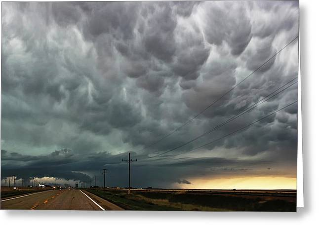 Mammatus Over Montata Greeting Card by Ryan Crouse