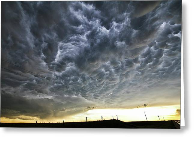 Mammatus Over Nebraska Greeting Card