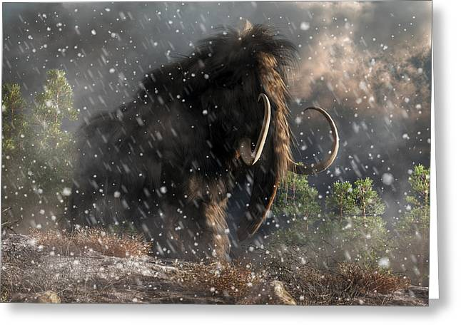 Mammoth In A Blizzard Greeting Card