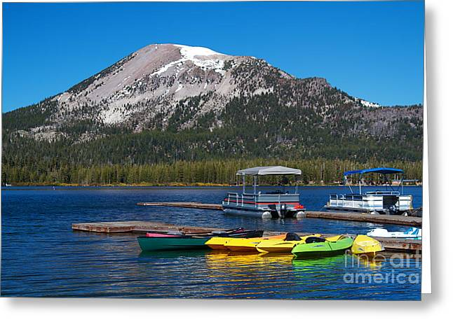 Mammoth Mountain California At Lake Mary Greeting Card by ELITE IMAGE photography By Chad McDermott
