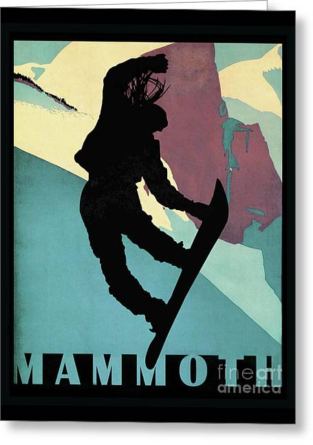Mammoth Mountain, Snowboarding Betty Greeting Card