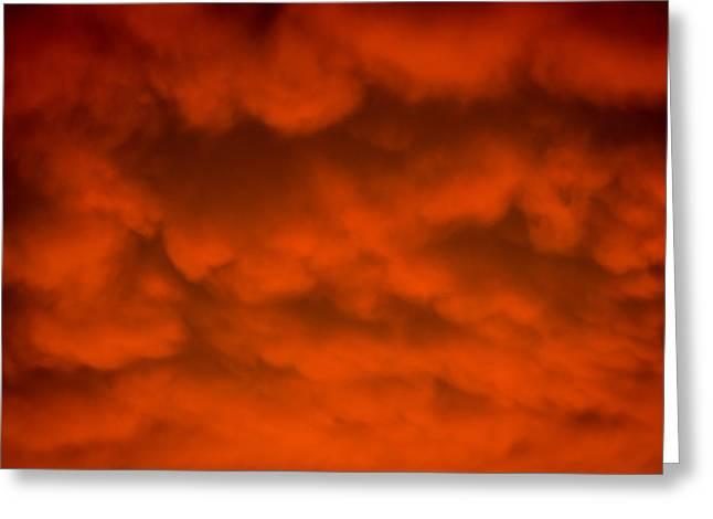Mammutus Clouds Sunset Greeting Card