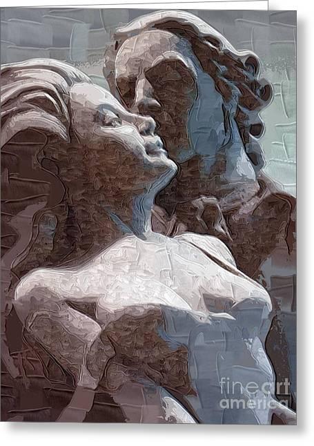 Man And Woman In Love Greeting Card by Deborah Selib-Haig DMacq