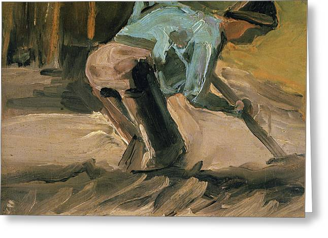 Man At Work Greeting Card by Vincent Van Gogh