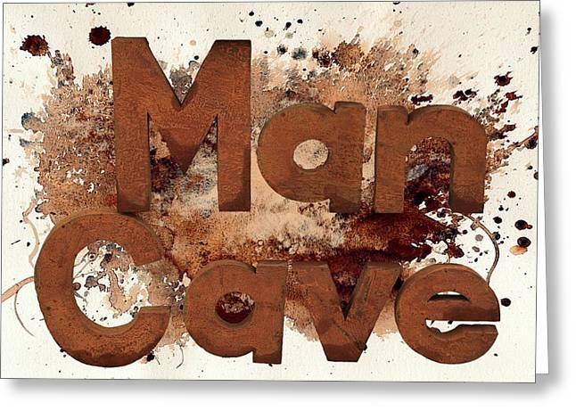 Man Cave Greeting Card by Donna Kennedy