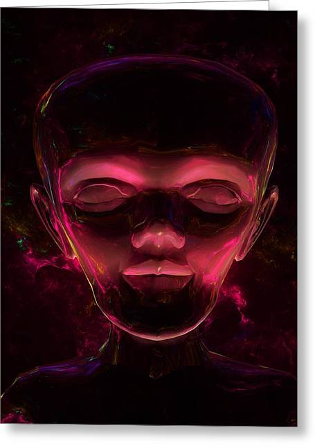 Man From Space By Raphael Terra Greeting Card by Raphael Terra