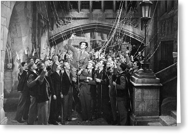 Man Gets Hero's Welcome Greeting Card by Underwood Archives