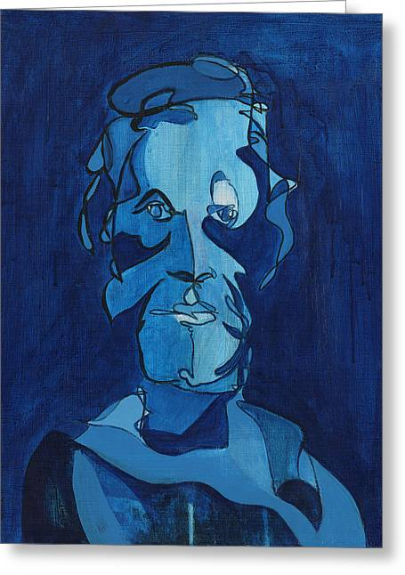 Man In Blue Greeting Card