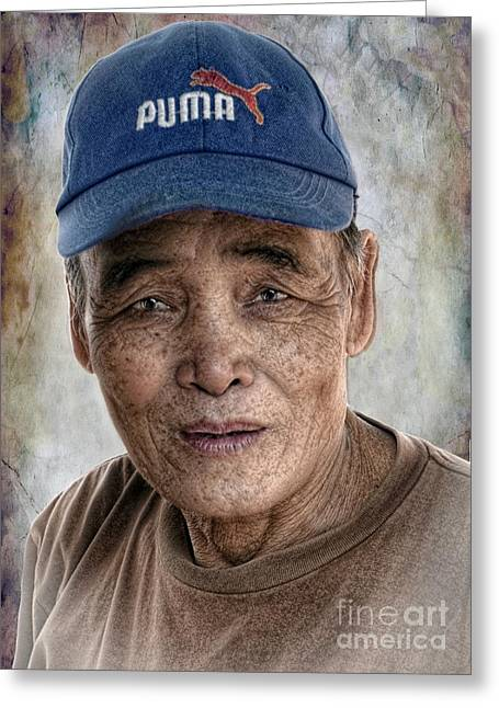 Man In The Cap Greeting Card