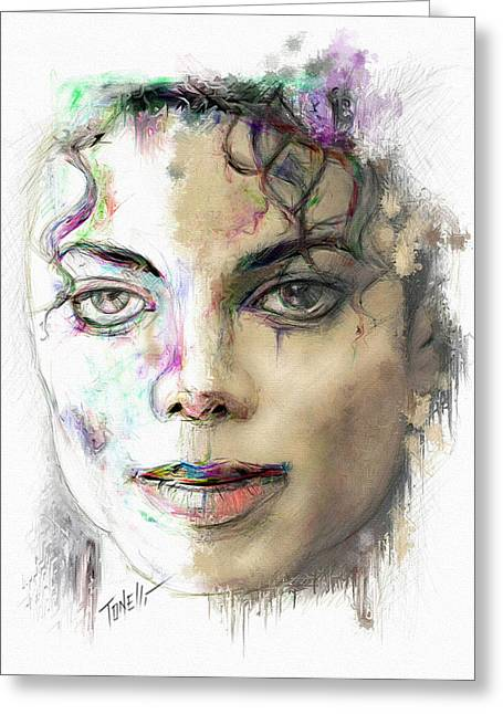 Michael Jackson Man In The Mirror Greeting Card by Mark Tonelli