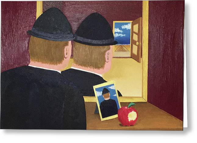 Man In The Mirror Greeting Card by Thomas Blood