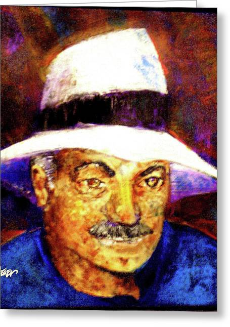 Seth Weaver Greeting Cards - Man in the Panama Hat Greeting Card by Seth Weaver