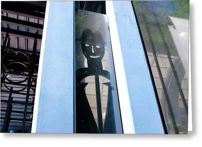 Man Looking At You Through A Window In Seattle Washington Greeting Card