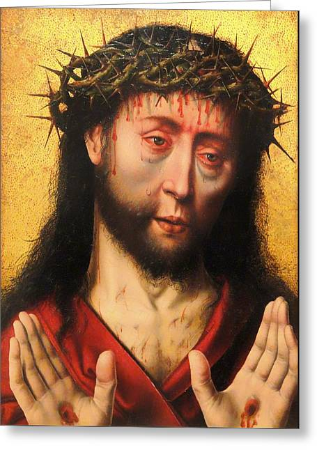 Man Of Sorrows Greeting Card by Mountain Dreams