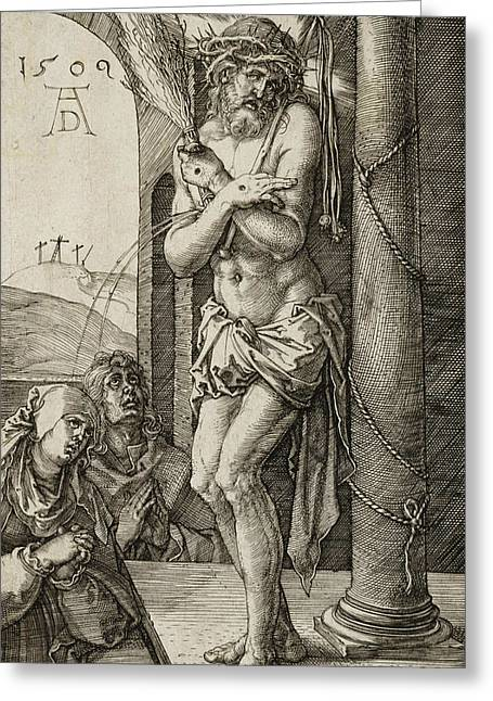 Man Of Sorrows Greeting Card by Albrecht Durer