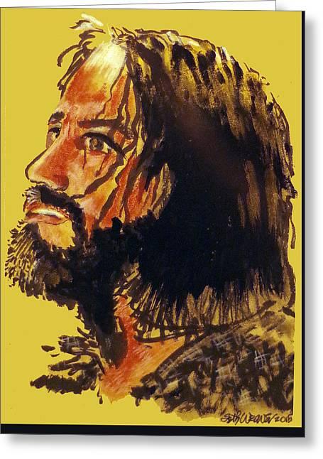 Man Of Sorrows Greeting Card by Seth Weaver