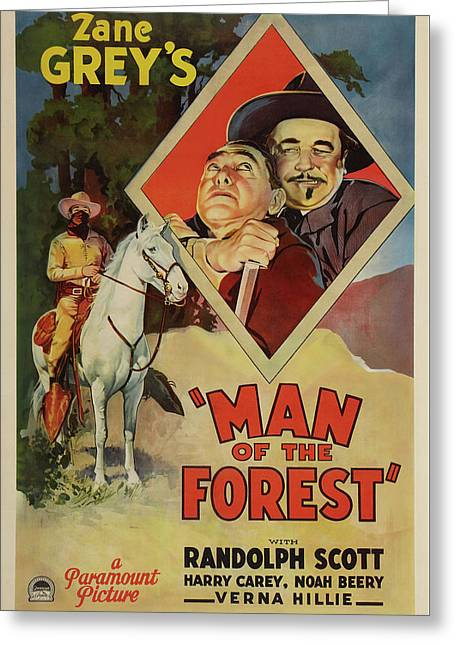 Man Of The Forest 1933 Greeting Card
