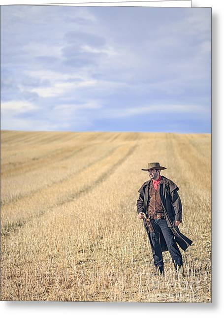Man Of The West Greeting Card by Evelina Kremsdorf