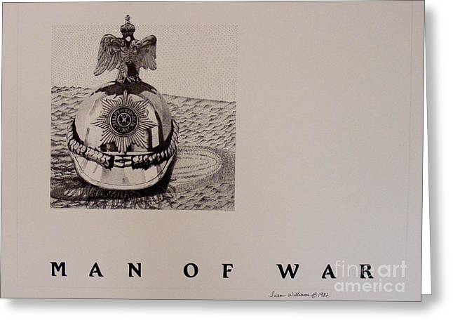 Man Of War Greeting Card