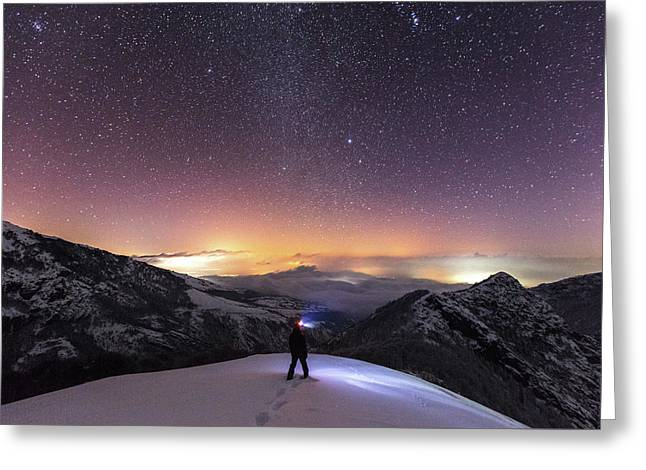 Man On Mars Greeting Card by Evgeni Dinev