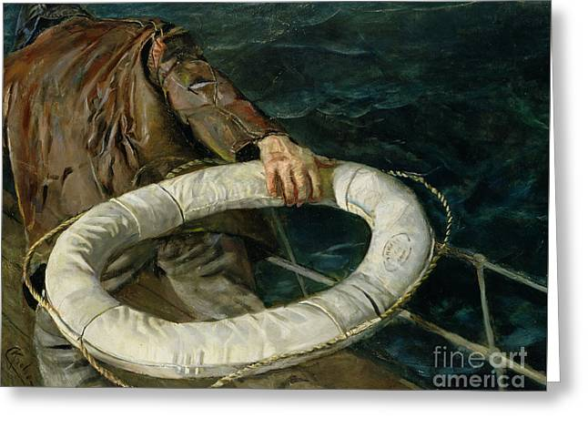 Man Overboard, 1906 Greeting Card