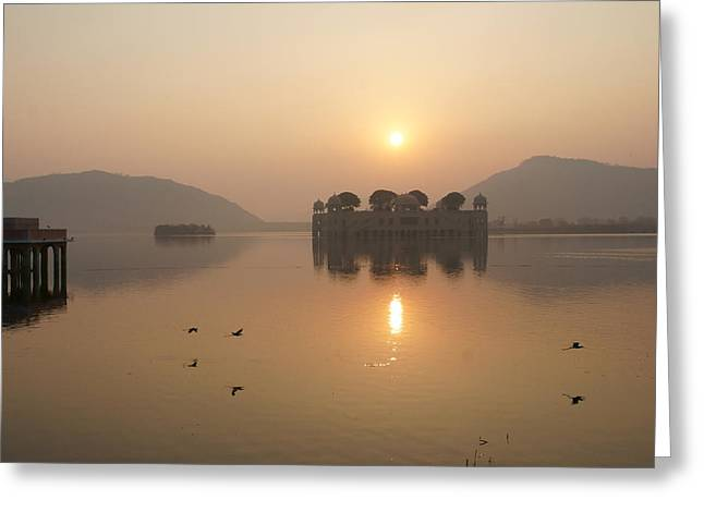 Man Sagar Lake Greeting Card