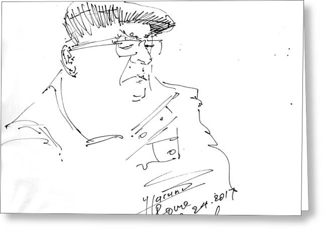Man With Hat Greeting Card
