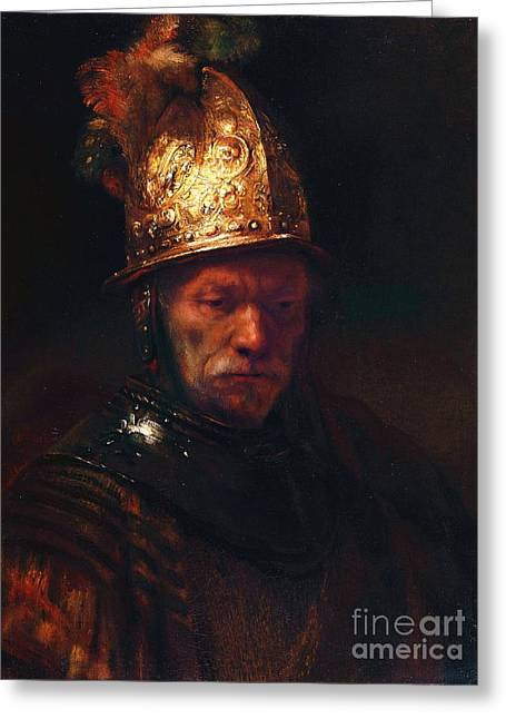 Man With The Golden Helmet Greeting Card