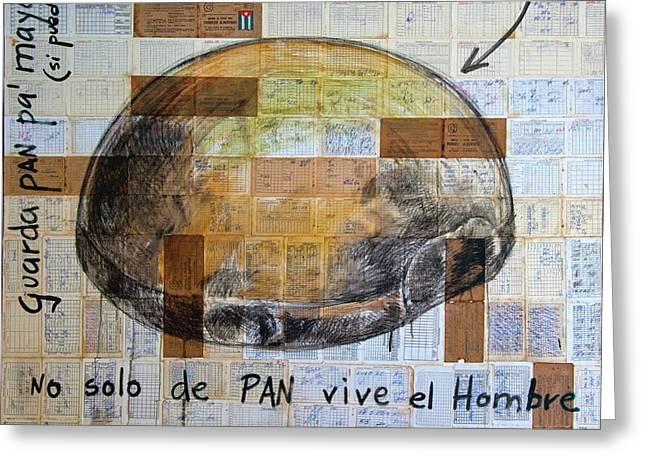 Mana' Cubano Greeting Card by Jorge L Martinez Camilleri
