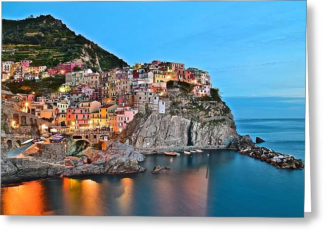 Manarola Aglow Greeting Card
