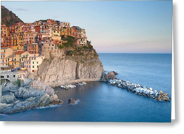 Manarola Greeting Card by Andre Goncalves