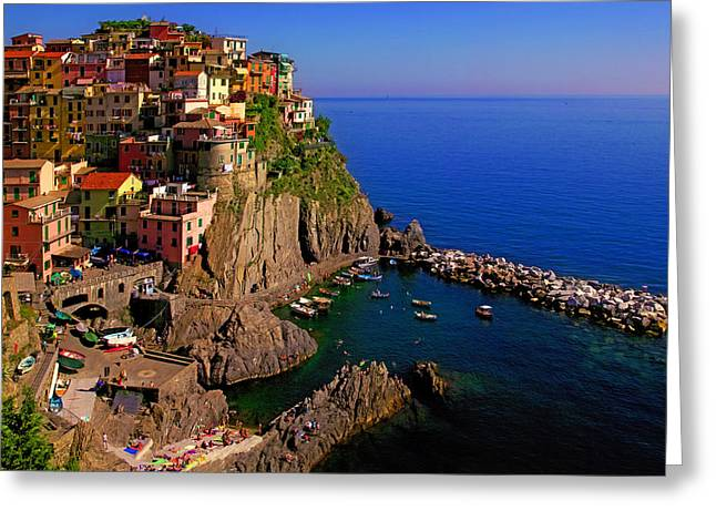 Manarola Crossing Greeting Card