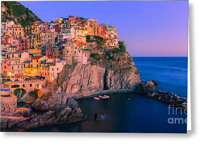 Manarola Is One Of The Five Towns That Make Up The Cinque Terre  Greeting Card