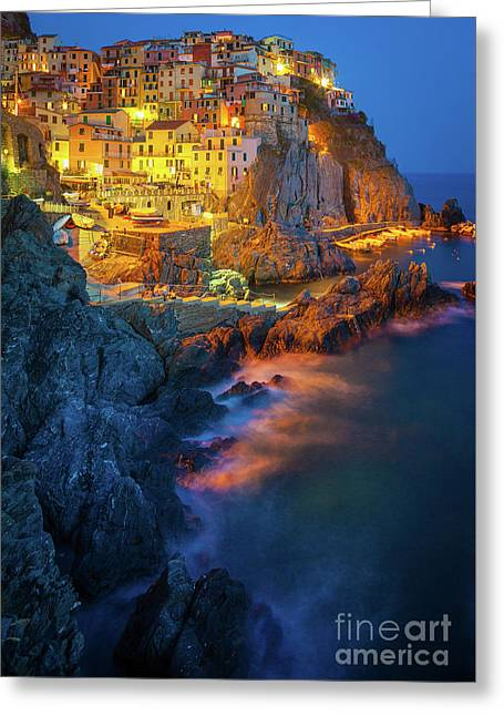 Manarola Lights Greeting Card