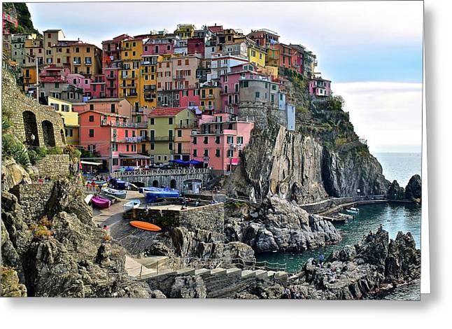 Manarola Version Four Greeting Card