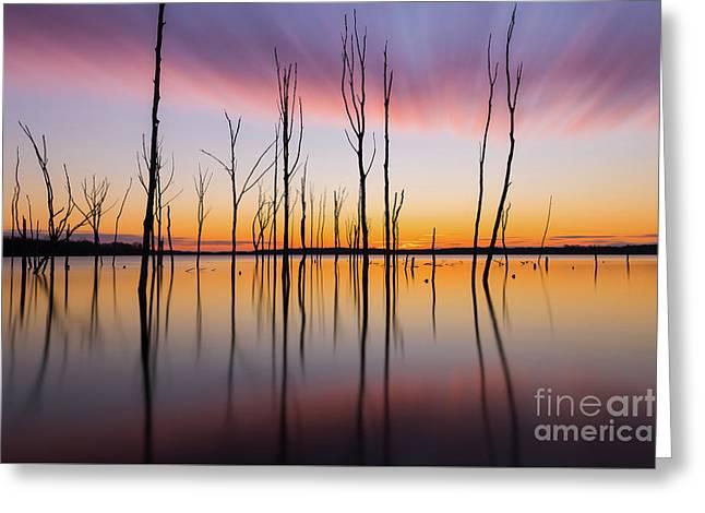 Manasquan Reservoir Long Exposure Greeting Card