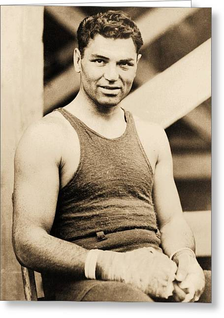 Sport Legends Greeting Cards - Manassa Mauler Greeting Card by Pg Reproductions