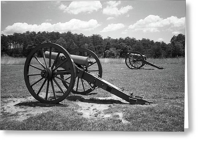 Greeting Card featuring the photograph Manassas Battlefield 2 Bw by Frank Romeo