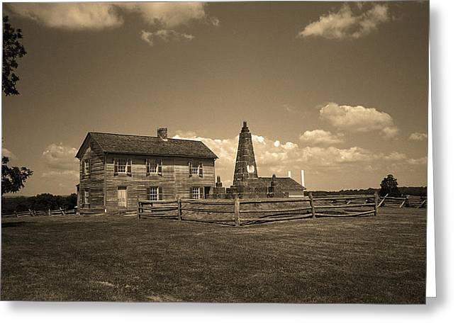 Manassas Battlefield Farmhouse 2 Sepia Greeting Card
