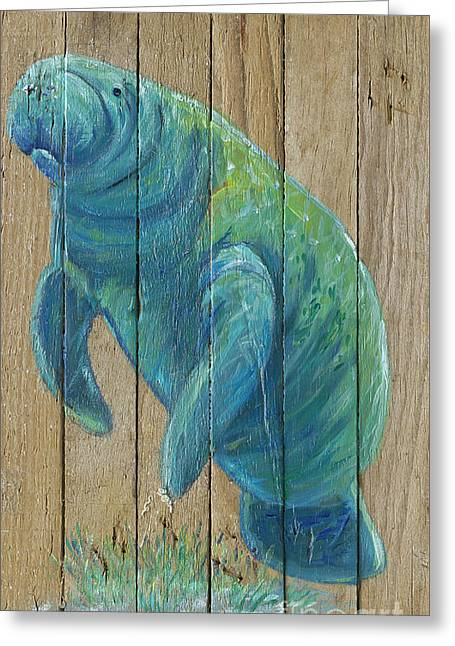 Manatee Greeting Card by Danielle Perry