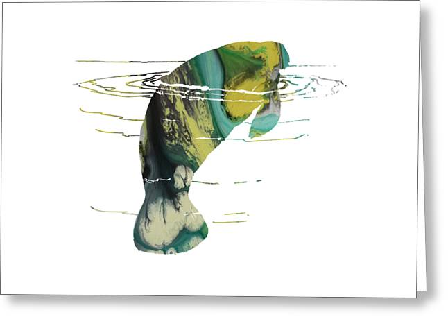 Manatee Greeting Card by Mordax Furittus