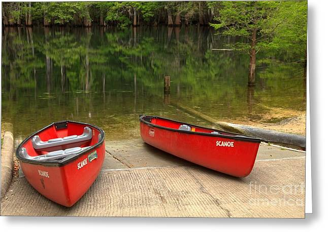 Manatee Springs Boat Launch Greeting Card by Adam Jewell