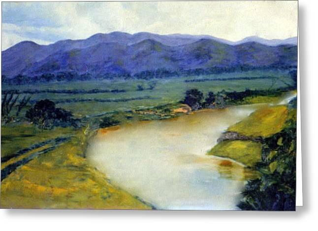 Manati River Greeting Card by Gladiola Sotomayor
