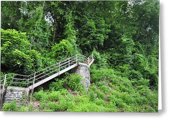 Manayunk - Steps From The Wissahickon Train Station Greeting Card by Bill Cannon