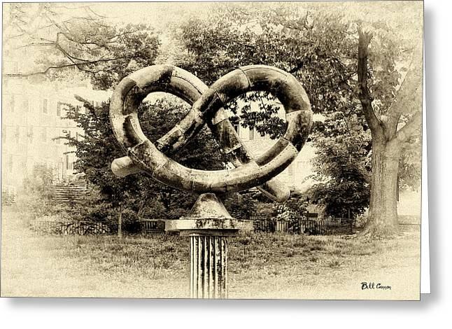 Manayunks Pretzel Park Greeting Card by Bill Cannon