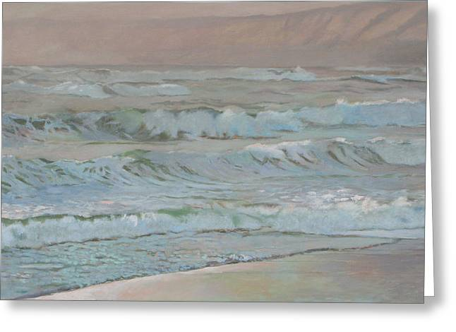 Manchester Beach Greeting Card by Robert Bissett