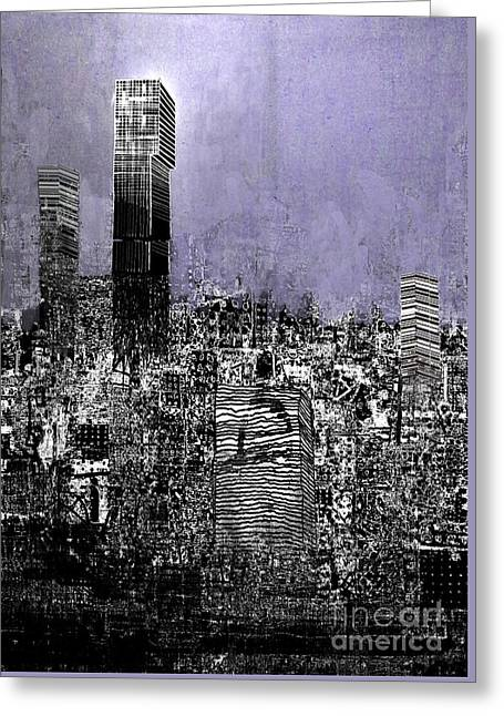 Manchester Exploding Greeting Card by Andy  Mercer