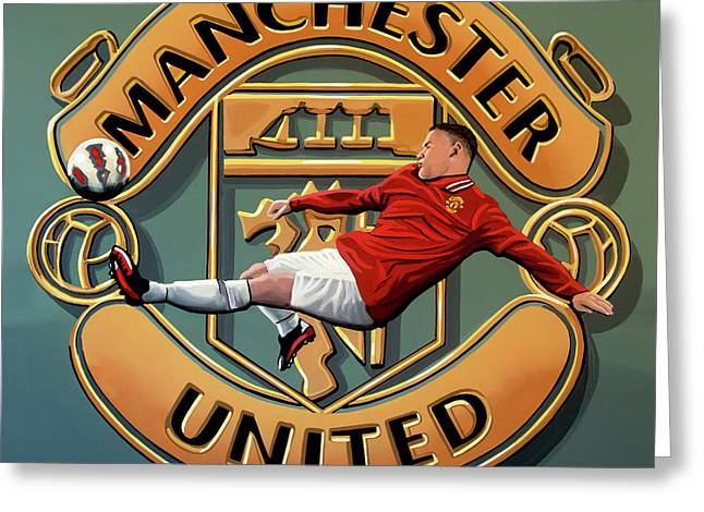 Manchester United Painting Greeting Card