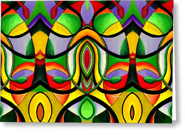 Mandala 9703 Greeting Card by Rafael Salazar
