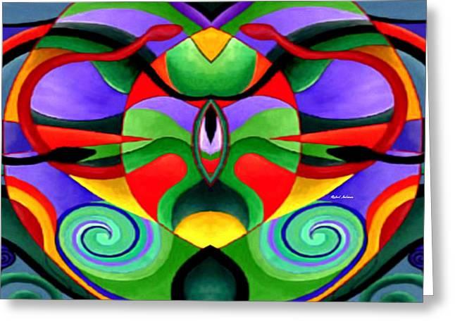Mandala 9704 Greeting Card by Rafael Salazar